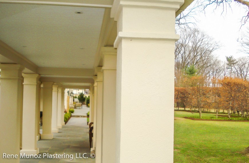 Stucco Columns Corridor Quality Stucco Siding